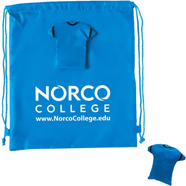 Blue - Drawstring T-shirt Backpack Photo