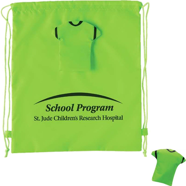Green - Drawstring T-shirt Backpack Photo