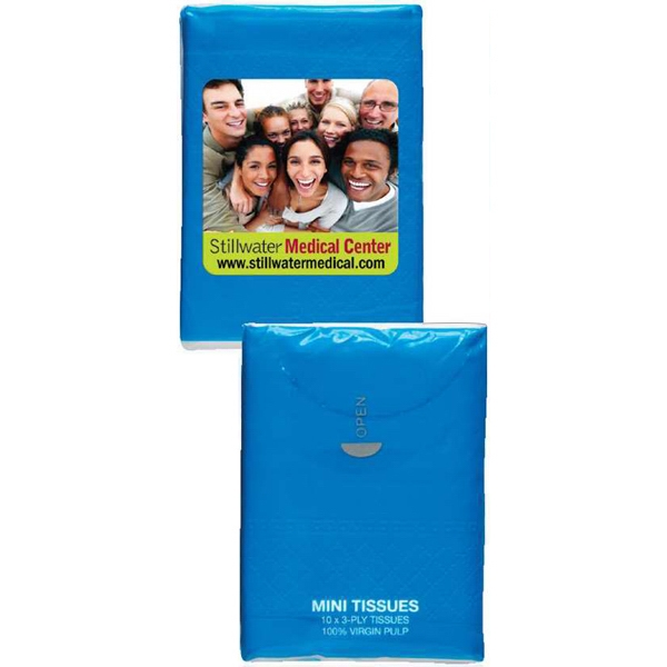 Blue - Mini Tissue Packs Photo