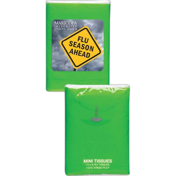 Lime Green - Mini Tissue Packs Photo