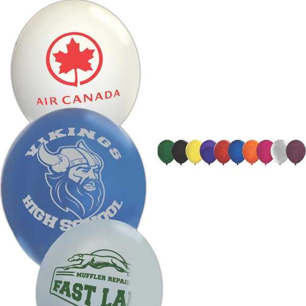 "9"" - Crystal Latex Balloon Is A Green Product; Helium Quality, 100% Biodegradable Photo"