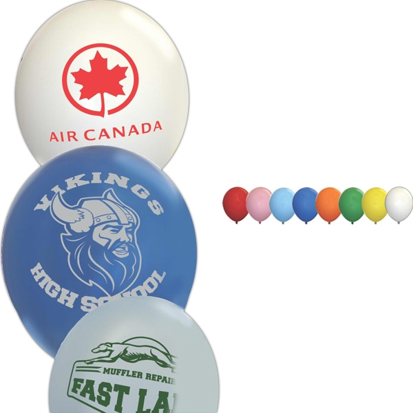 "Standard 9"" Latex Balloon; Helium Quality And 100% Biodegradable Photo"