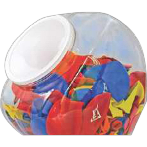 Plastic Jar With Lid. Balloon Accessory Photo