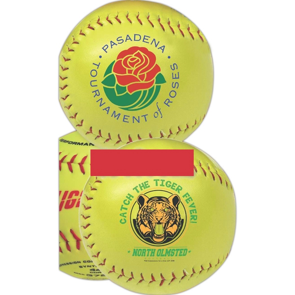 Optic Yellow Synthetic Leather Softball Photo