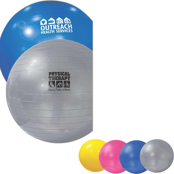 Vinyl Exercise Gym Ball; Strong And Durable. Optional Foot Pump Available Photo
