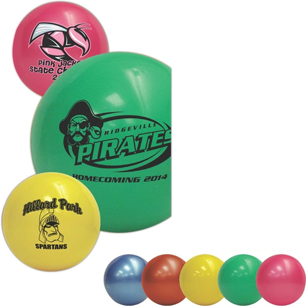 "High Quality Soft Vinyl Play Ball Features A Re-inflatable Athletic Valve; 8.5"" Photo"