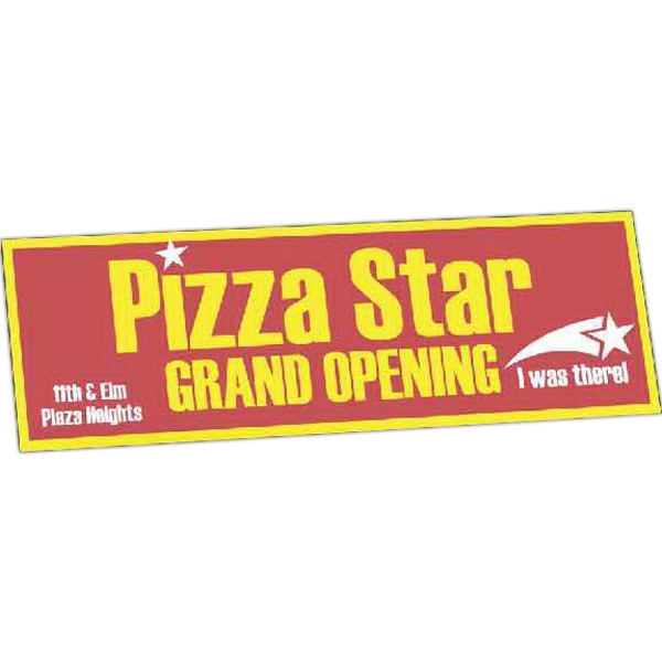 "Zip-strip (r) - 2 Colors - One Day Bumper Sticker With Ultra Removable Adhesive. 3"" X 9"" Photo"