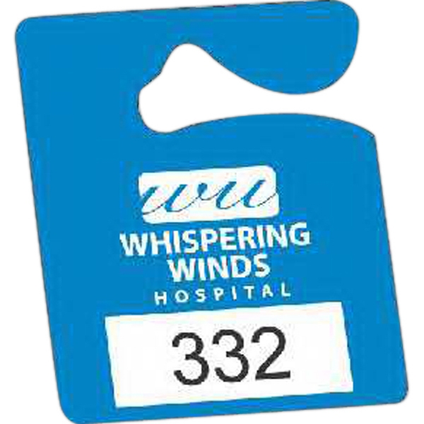 "Numbered .010"" White Plastic - Durable Plastic Hanging Parking Permit, 2 1/2"" X 3"" Photo"