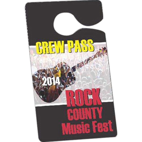 "Full Color Front - 3 1/2"" X 6"" - Temporary Hanging Parking Permit For Short-term Or Single Use Events Photo"