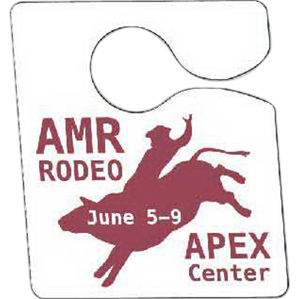 "Full Color Front & Back - 3"" X 3 1/2"" - Temporary Hanging Parking Permit For Short-term Or Single Use Events Photo"