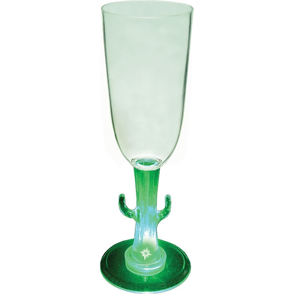 Cactus - Lighted 7 Oz. Champagne Glass, With Novelty Stem Photo