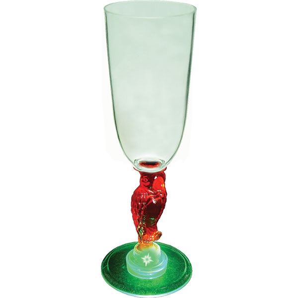 Parrot - Lighted 7 Oz. Champagne Glass, With Novelty Stem Photo