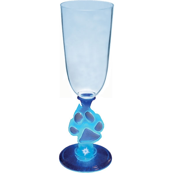 Paw - Lighted 7 Oz. Champagne Glass, With Novelty Stem Photo