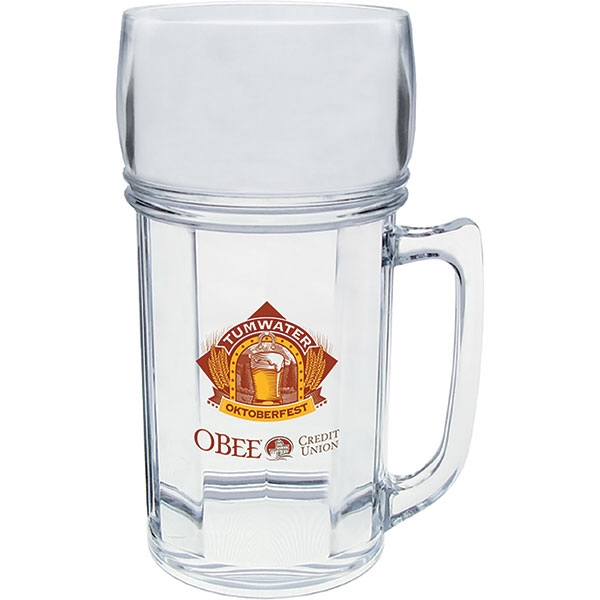 "Beer Mug Made Of Clear Styrene, 3.125"" X 4.875"". 8 Oz Photo"