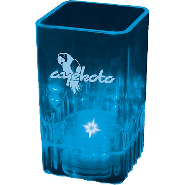 "Blinking Square Shot Glass, 2 Oz. Dimension: 1.5""x 2.625"" Photo"