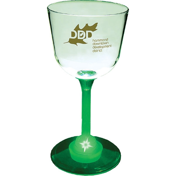 Lighted 7 Oz Standard Stem Wine Glass Photo
