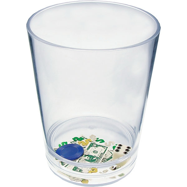 "Casino - Compartment Pint Cup Made Of Clear Styrene With Theme, 3.375"" X 4.375"" Photo"