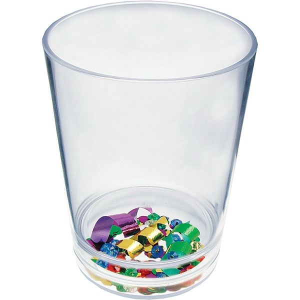 "Mardi Gras - Compartment Pint Cup Made Of Clear Styrene With Theme, 3.375"" X 4.375"" Photo"