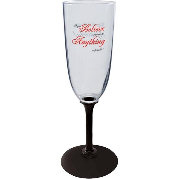 7 oz Plastic Champagne Glass w/Std. or Short Stem