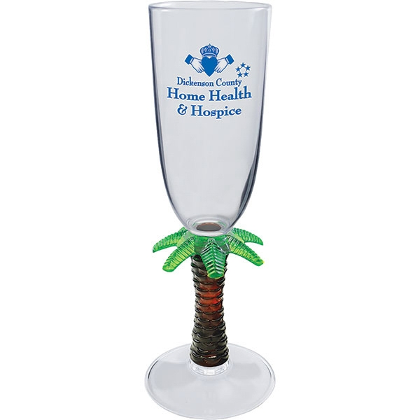Palm - Novelty Stem 7 Oz Champagne Glass Photo