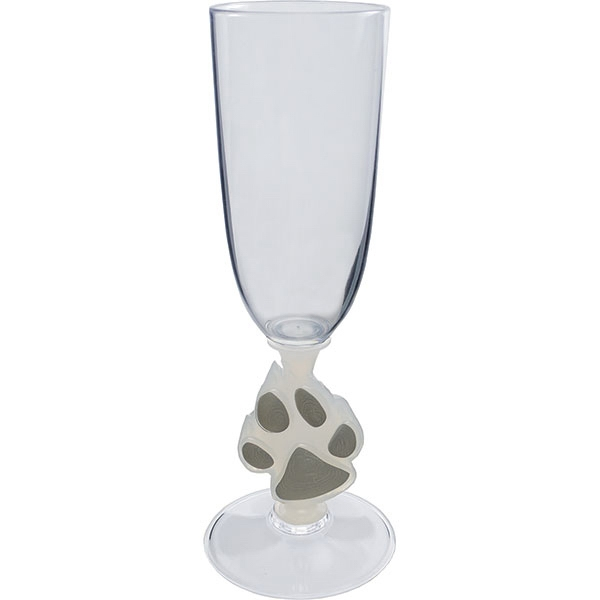 Paw - Novelty Stem 7 Oz Champagne Glass Photo