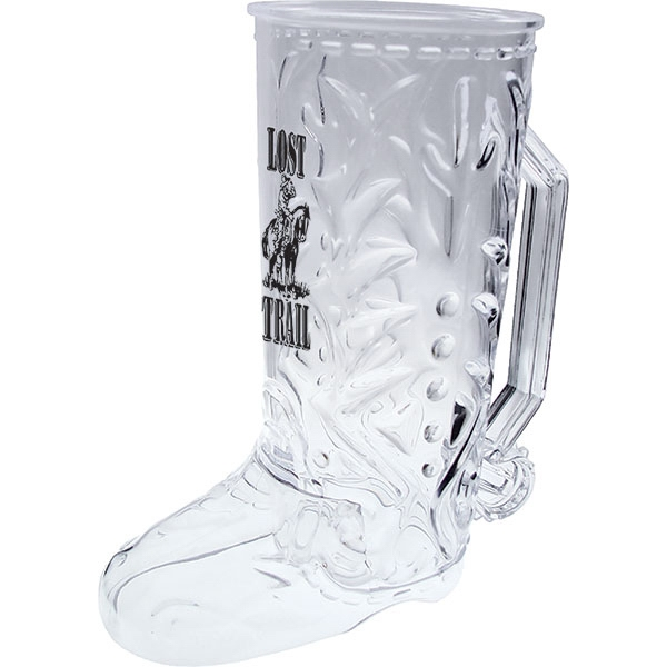 "Cowboy - Boot Mug Made Of Clear Styrene, 6.5"" X 7.375"". 20 Oz Photo"