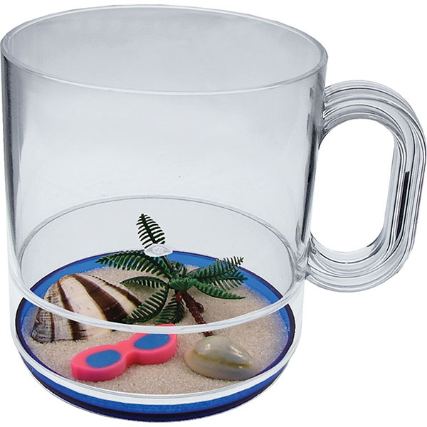 Life's A Beach - 12 Oz Compartment Coffee Mug, Beach Theme Photo