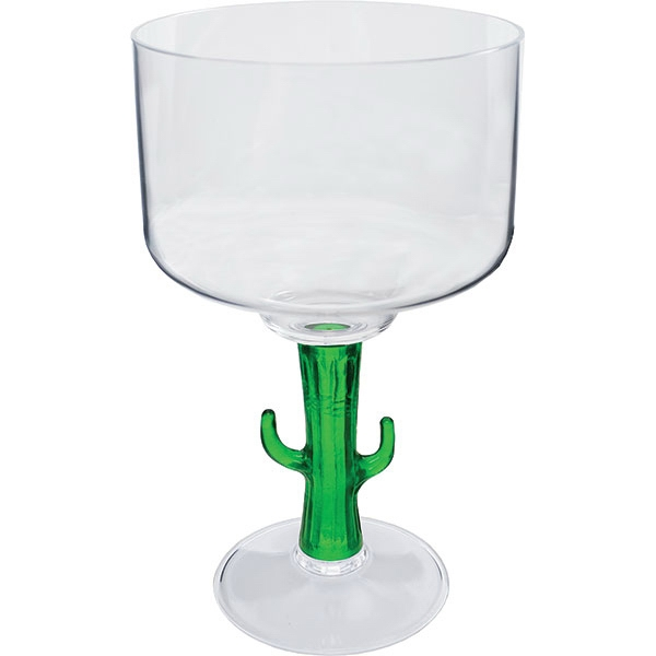 "Cactus - Novelty Stem 18 Oz Margarita Glass, 4.25""w X 7""h Photo"
