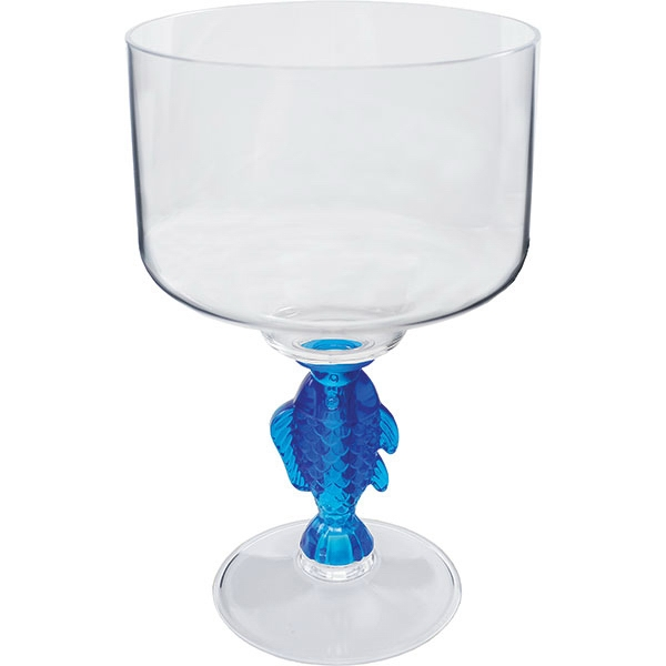 "Fish - Novelty Stem 18 Oz Margarita Glass, 4.25""w X 7""h Photo"