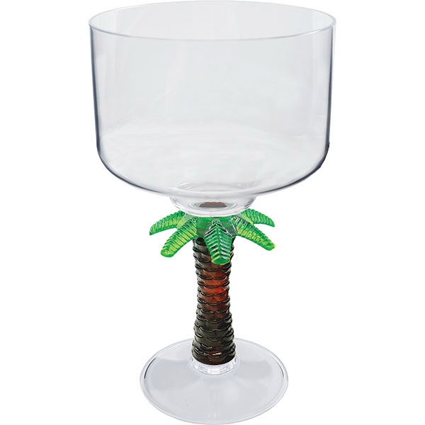 "Palm - Novelty Stem 18 Oz Margarita Glass, 4.25""w X 7""h Photo"