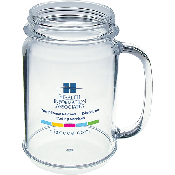 "Jar Mug Made Of Clear Nas Acrylic, 4.25""w X 5""h. 16 Oz Photo"
