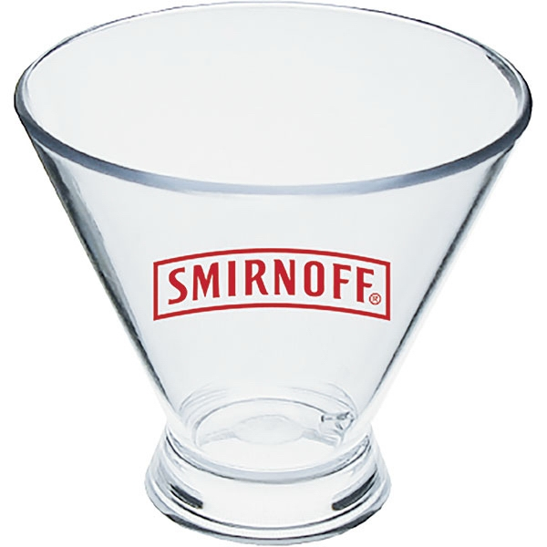 3 Oz Clear Styrene Stemless Martini Glass Photo