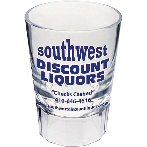 "Fluted Shot Glass Made Of Clear Styrene, 1.875"" X 2.625"". 2 Oz Photo"