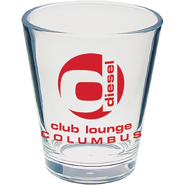 "2 Oz Clear Styrene Tapered Shot Glass, 2"" X 2.25"" Photo"