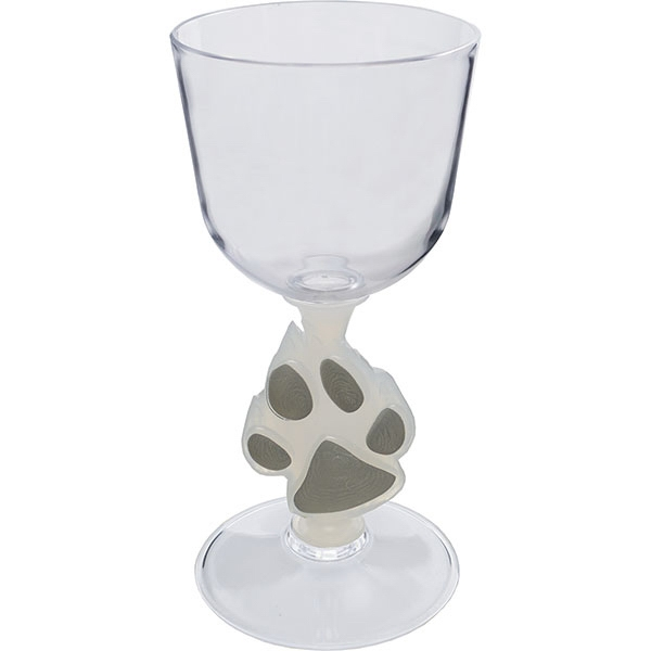"Paw - Novelty Stem Wine Glass Made Of Nas Acrylic Plastic. 3""w X 6.25""h. 7 Oz Photo"