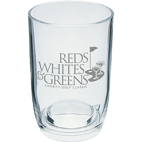 3 Oz Clear Styrene Stemless Wine Glass Photo
