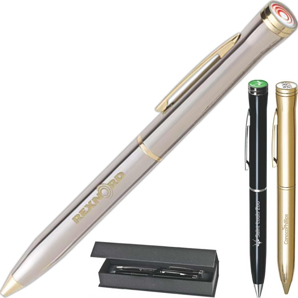 Premier - Logo Top Twist Action Ballpoint Pen With Black Ink Photo