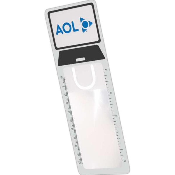 Computer - Unique Shaped Bookmark Magnifier With 4 X  Magnification And Side Ruler Markings Photo