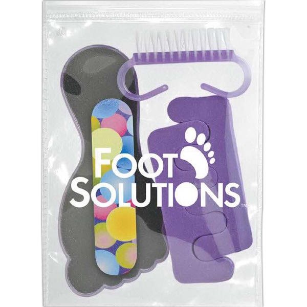 Pedicure Pack With File Board, Nail Scrubber, Foam Emery Board And Toe Separators Photo