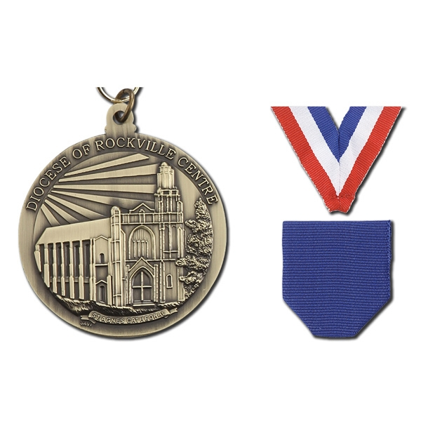 "3"" - Cast Single Sided 3d Medal Has 2 Mm To 3 Mm Thickness Photo"