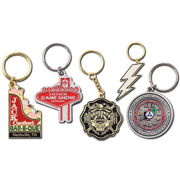 "1 7/8"" - Classic Double Sided Metal Key-chain Photo"
