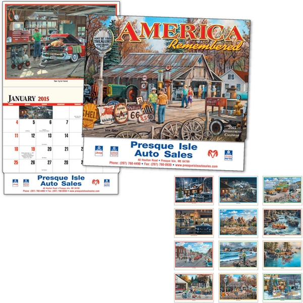 America Remembered - Thirteen Month Appointment Calendar With Paintings By Ken Zylla Photo