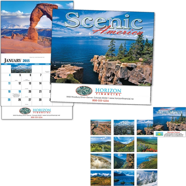 Scenic America (r) - Thirteen Month Appointment Calendar With Images Of America's Scenery Photo