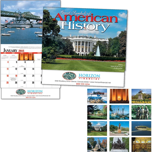 Great Symbols Of American History - Thirteen Month Appointment Calendar With Photos Of Symbols, Monuments And Memorials Photo