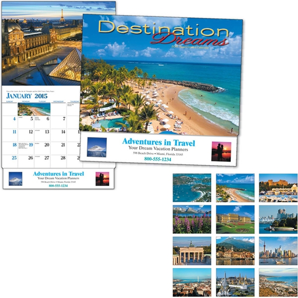 Destination Dreams (r) - Thirteen Month Appointment Calendar With Colorful Photos From Vacation Destinations Photo