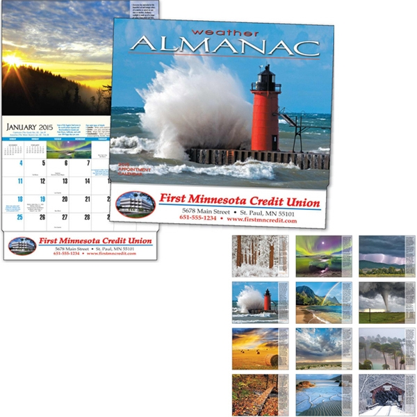 Weather Almanac - Thirteen Month Appointment Calendar With Facts And Photos Of Weather Photo