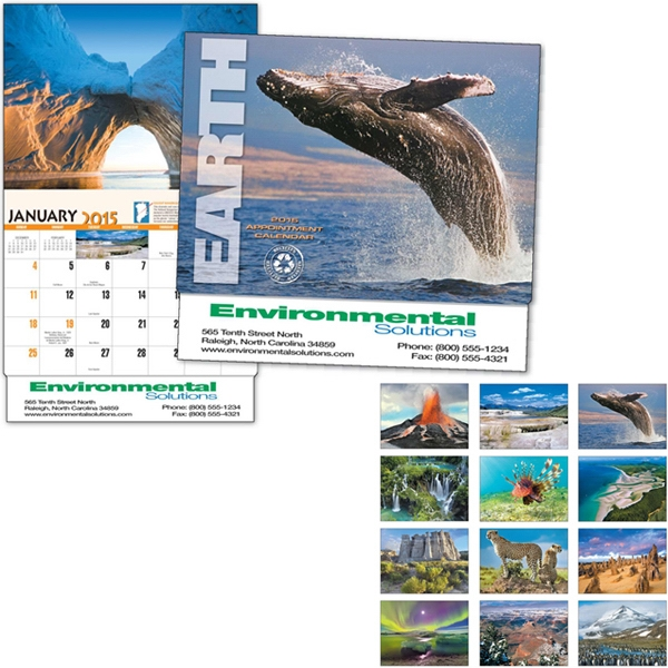 Earth - Thirteen Month Appointment Calendar With Photos From Around The Globe Photo