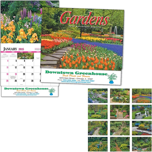Gardens - Thirteen Month Appointment Calendar With Garden Images Photo