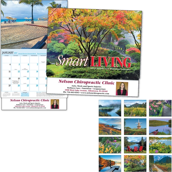 Smart Living - Thirteen Month Appointment Calendar With Scenic Photos And Health And Wellness Tips Photo