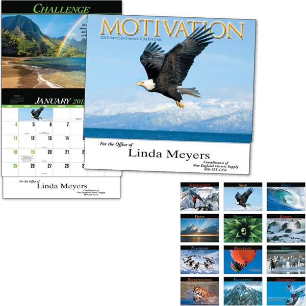 Motivation - Thirteen Month Appointment Calendar With Photos And Motivational Words Photo